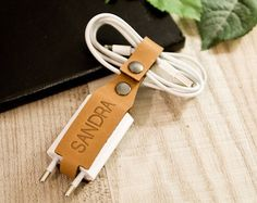 cord organizer with plug // cable holder by AOBusinessentials
