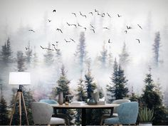 Custom Wall Mural Jungle Forest Trees Wallpaper Pine Tree with Seagulls Wall Mural Living or Dinning Room Wall Painting Wallpaper Custom Wall Mural Jungle Forest Trees Wallpaper Pine Tree with Seagulls Wall Mural Living or Dinning Tree Wallpaper, Painting Wallpaper, Custom Wallpaper, Photo Wallpaper, Painting Abstract, Room Wall Painting, Mural Painting, Custom Wall Murals, Cleaning Walls