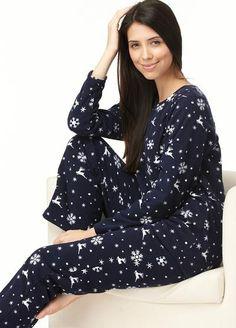 Reindeer Micro Fleece Breastfeeding Pyjamas