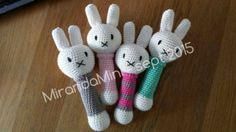 Haken met mini: Nijntje rammelaar (Miffy Rattle use translator)