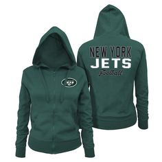 8f48d5f20a5 Women s New York Jets 5th   Ocean by New Era Green Halfback Full-Zip Hoodie  Size medium