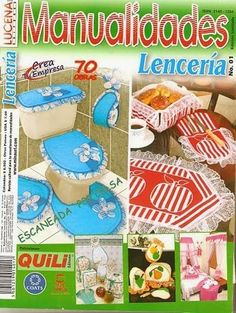 Revistas de manualidades Gratis: baños decoracion Sewing Crafts, Diy Crafts, Magazine Crafts, Crafts To Make And Sell, Good Housekeeping, Bargello, Book Crafts, Easy Projects, Couture
