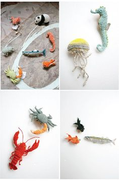 Mini needle work animals by Japanese artist Hipota