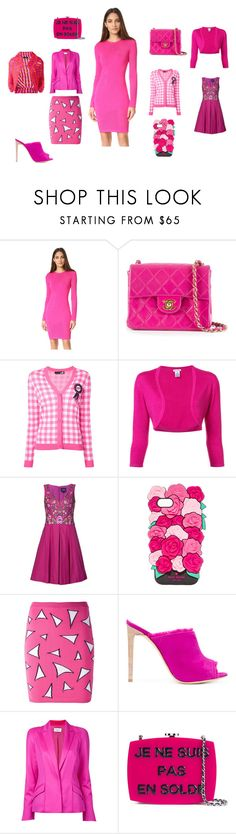 """untitled"" by emmamegan-5678 ❤ liked on Polyvore featuring Thierry Mugler, Chanel, Love Moschino, Oscar de la Renta, Notte by Marchesa, Kate Spade, Jeremy Scott, Giuseppe Zanotti, Comme des Garçons and vintage"