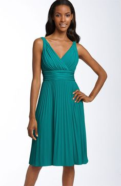 Suzi Chin for Maggy Boutique Pleated Jersey Dress available at #Nordstrom. Comes in several colors.
