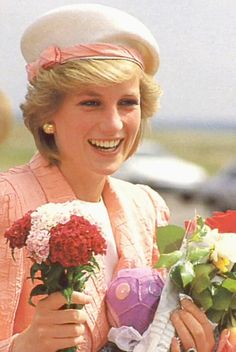 Princess Diana pictured in the central courtyard at Warwick Castle, following the official opening of the Victorian Rose Garden by the Princess on July 8, 1986.