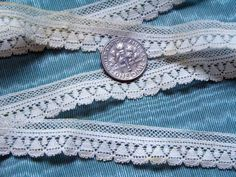 Antique French Tiny Bobbin Lace Trim 1880s from Victorian Petticoat