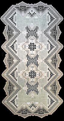 See the pretty Hardanger Runner - Hechizo at Nordic Needle