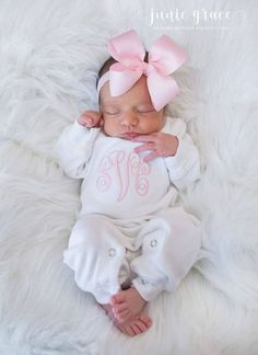38f7ecf9a15 Baby Girl Coming Home Outfit Baby Girl Clothes Personalized Baby Girl Gift Monogrammed  Baby Girl Outfit Newborn Headband