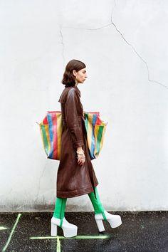 Balenciaga's fall-winter 2016 campaign focuses on oversized striped tote bag