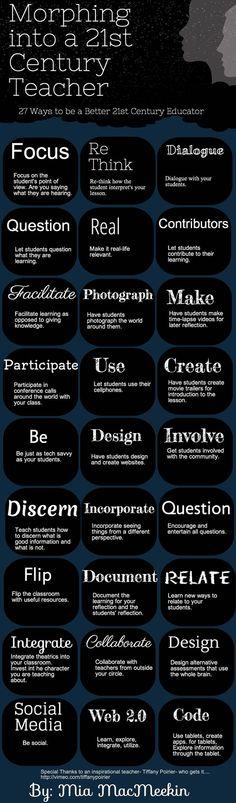 27 formas de ser un mejor educador en el siglo XXI