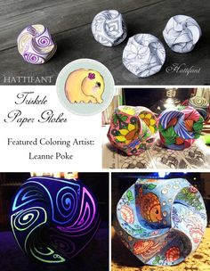 Hattifant Triskele Paper Globes Papercraft Coloring Page Grownup Coloring Christmas Paper Crafts, 3d Paper Crafts, Cardboard Crafts, Diy Paper, Paper Crafting, Crafts For Seniors, Crafts For Kids, Mandala Turtle, Magic Crafts
