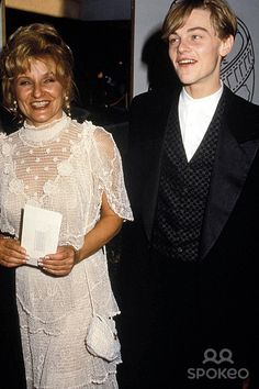 Leonardo Dicaprio with His Mom Irmaline Dicaprio in Los Angeles 1994 Photo by Phil Roahc/ipol/Globe Photos, Inc.