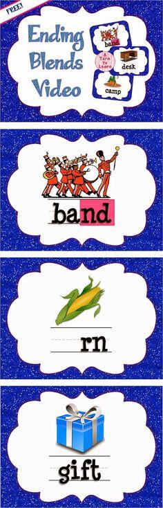 Ending Blends Smartboard Games and Movie Phonics Videos, Phonics Words, Phonics Blends, Blends And Digraphs, Teaching Phonics, Teaching Reading, Teaching Ideas, Learning, Kindergarten Language Arts