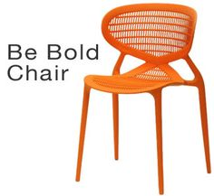 Orange, fun chair for indoors and out.