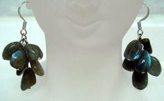 Natural Handmade Semi-Precious Gemstone-Labradorite-Earrings | BeautyandtheGems - Jewelry on ArtFire