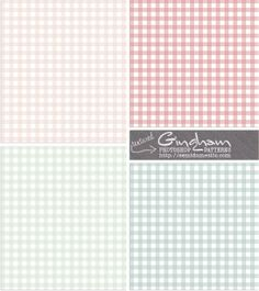 Free Textured Gingham Photoshop Patterns - Retro Spring