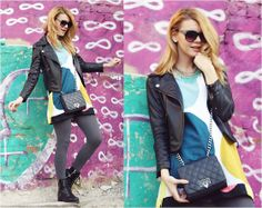 Romwe Jacket, Motivi Bag, H&M Boots