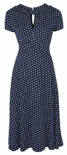 Amazon.com: Lindy Bop Womens 'Juliet' Classy Polka Dot Vintage Ww2 Landgirl Pinup Tea Dress: Clothing