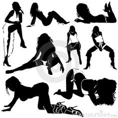 Set of sexy women silhouettes vector Poses For Pictures, Picture Poses, Photo Poses, Boudoir Photography Poses, Boudoir Poses, Girl Silhouette, Sexy Poses, Photoshoot, Drawing