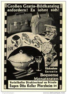 Original-Werbung/Inserat/ Anzeige 1953 - VERSANDHAUS OTTO KELLER PFORZHEIM - ca. 70 x 90 mm