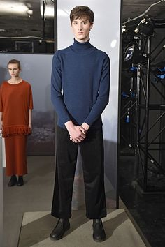 John Smedley AW17 #LFWM London Fashion Week Mens, Aw17, Catwalk, Normcore, High Neck Dress, Dresses, Design, Style, Turtleneck Dress