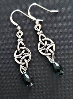 CELTIC HEART Sterling Silver Earrings Earring Jewel Jewellery Celts Irish Scottish Pagan Ireland Jewelry Hand made Scotland Magic Ancient