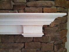 The Ocracoke Custom Fireplace Mantel Shelf