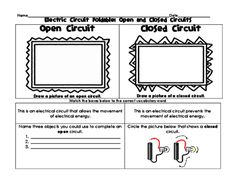 Electric Circuit Foldable: Open, Closed, Series, and Parallel Circuits from Kristin Jennison on TeachersNotebook.com -  (4 pages)  - These foldables allows students to explore electricity through a focus on open, closed, series, and parallel circuits.