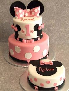 Mini Mouse Themed Birthday Cake