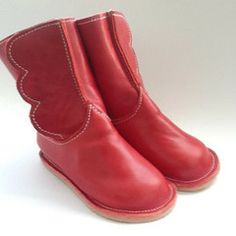 Handmade Toddler Winged Boots. From the New York States of Mind Marketplace. Handmade in Queens, NYC by Chickpea Kid.