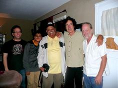 Sitar Maestro Ashwin Batish and his son tabla wizard Keshav Batish visited with the bassist Ron Blair of  Tom Petty and the Heartbreakers when on their Southern California area tour.  After a brief recording session they took this group photo. Other friends in picture: Laurence Dorazio and Tom Goetz