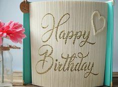 Gefaltetes Buch / Happy Birthday / Geburtstag / Buchfaltkunst | Etsy Happy Birthday, Etsy, Craft Gifts, Handmade, Birthday, Happy Brithday, Urari La Multi Ani, Happy Birthday Funny, Happy Birth