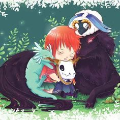 "Love fu love fu ""Mahoutsukai No Yome""! ~~ Go watch go watch !! #chise #elias #mahoutsukainoyome #illustration #fanarts"