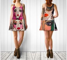 Fashion Doll Montage I, Flare dress by Fifi & Lulu Designs | Shop | Art of Where