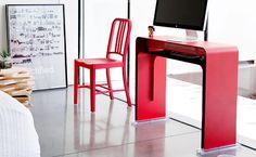 OneLessDesk, space-saving computer desk by Heckler Design