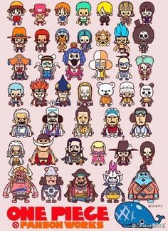 One Piece characters, chibi, cute, text; One Piece Otaku Anime, Anime Echii, Anime Comics, Kawaii Anime, Anime One Piece, One Piece Ace, One Piece Luffy, Figurine One Piece, The Pirates
