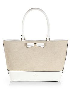 aae69066f95b Kate Spade New York Canvas   Leather Tote New York Canvas