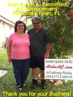 Thanks to Juan & Ann for allowing us to share on our website and Facebook! We appreciate it.