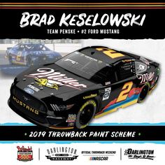Darlington throwback paint schemes 2019 | NASCAR.com Nascar Race Cars, Nascar Sprint Cup, Darlington Raceway, Rusty Wallace, Brad Keselowski, Classic Race Cars, Paint Schemes, Car And Driver, Hot Cars