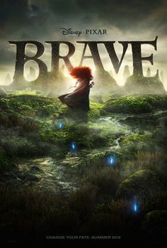 Brave (2012) Disney, Pixar, movie poster, Change Your Fate, Princess Merida
