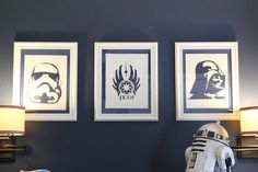 Southern Revivals: DIY Star Wars silhouettes using the Silhouette from @Silhouette America and the Galaxy Far, Far Away font from http://dafont.com