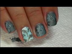 Wet Dolphins - Nail Tutorial. Use Matte top coat all over on bubble nails. When, dry, use a dotting tool to add glossy top coat to just the bubbles for a water effect.