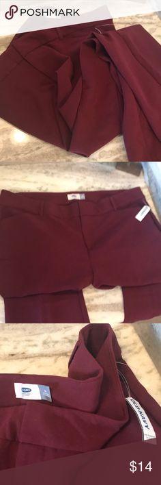 Maroon slacks Long regular slacks Old Navy Pants Trousers