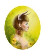 Horoscope Zodiac - Fantasy Cancer  Portret Beautifulbn Girl - Download From Over 46 Million High Quality Stock Photos, Images, Vectors. Sign up for FREE today. Image: 50412776