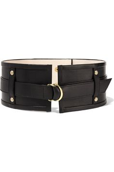 BALMAIN Embellished leather waist belt. #balmain #belts