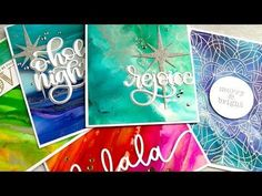 Easy Alcohol Ink Backgrounds - YouTube
