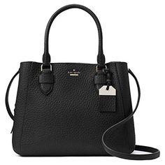 Kate Spade Women's Genuine Leather Satchel Handbags/Shoulder Bags, Carter Street, Black/Aliana