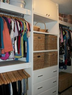 Great idea for walk in closet,,,I like the upper cabinet for sweater storage to keep them dust free