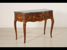 Consolle in stile Barocchetto del XVIII secolo - YouTube